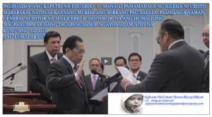General Auditor Glicerio B. Santos, Jr.  sinaklawan ang Kapatid na Eduardo V. Manalo