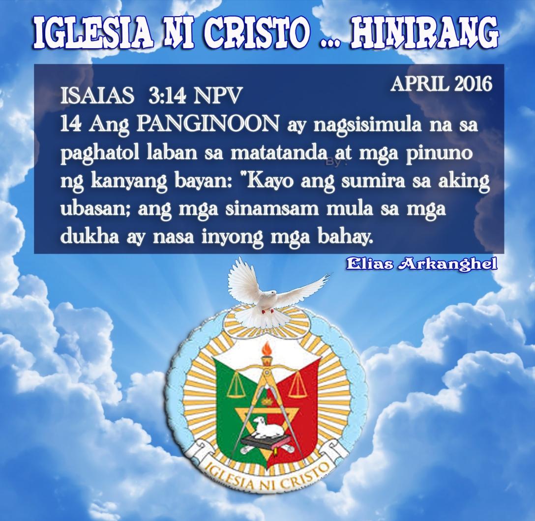 ANG PANGINOON NAGSISIMULA NA  APRIL 2016